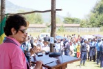 U.S. Ambassador to Ethiopia Patricia Haslach gives a keynote address at the Kembata annual festival attended by thousands of community members.