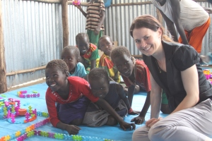 Deputy Assistant Secretary for the Bureau of Population, Refugees, and Migration Catherine Wiesner visits a South Sudanese Refugee Camp in Gambella, Ethiopia, March 2015