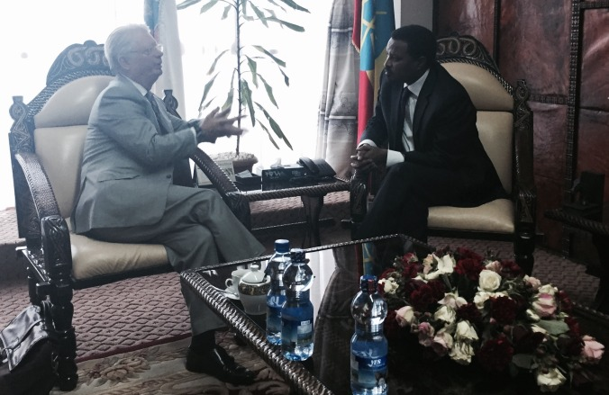 Fred with the Addis Ababa Mayor-2
